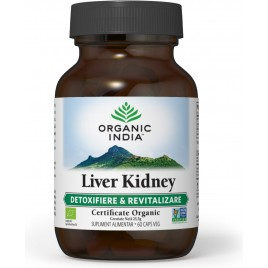 Organic India Liver Kidney   Regenerare Ficat & Rinichi 60 caps