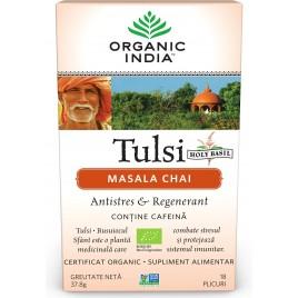 ORGANIC INDIA Ceai Adaptogen Tulsi Masala Chai 18 plic Bio
