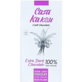 Ciocolata artizanala Bio Extra Dark 100% -  70 g