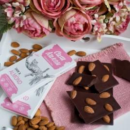 Ciocolata artizanala cu migdale si sare de mare -  70 g