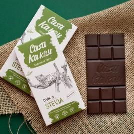 Ciocolata artizanala cu stevie - fara zahar -  70 g